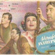 Cine: PROGRAMA DE CINE - HOMBRES INTRÉPIDOS - JOHN WAYNE - TEATRO CERVANTES (MÁLAGA) - 1940.. Lote 170400568