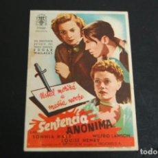 Cine: SENTENCIA ANÓNIMA. Lote 170410108