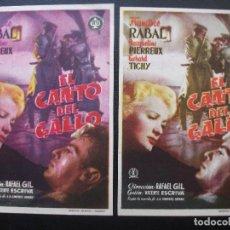 Cine: EL CANTO DEL GALLO, FRANCISCO RABAL, VARIANTE. Lote 170426348