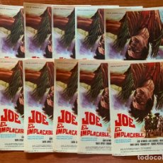 Cine: 10 PROGRAMAS DE CINE, JOE EL IMPLACABLE, SIN PUBLICIDAD. Lote 170426704
