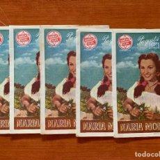 Cine: 5 PROGRAMAS DOBLES DE CINE, MARIA MORENA CON PAQUITA RICO, SIN PUBLICIDAD. Lote 170426852