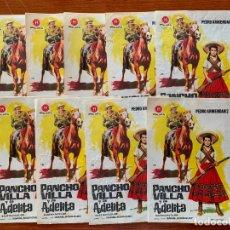Cine: 9 PROGRAMAS DE CINE, PANCHO VILLA Y LA ADELITA, SIN PUBLICIDAD. Lote 170427076