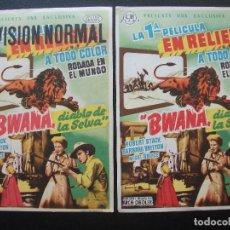 Cine: BWANA, DIABLO DE LA SELVA, ROBERT STACK, VARIANTE. Lote 170427088