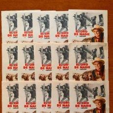Cine: 15 PROGRAMAS DE CINE, EL ORO DE NADIE, SIN PUBLICIDAD. Lote 170427252