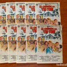 Cine: 10 PROGRAMAS DE CINE, LA CABAÑA DEL TIO TOM, SIN PUBLICIDAD. Lote 170427592