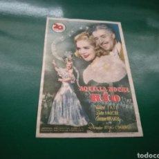 Cine: PROGRAMA DE CINE. AQUELLA NOCHE EN RÍO. Lote 170440912