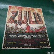 Cine: PROGRAMA DE CINE. ZULÚ. Lote 170443600
