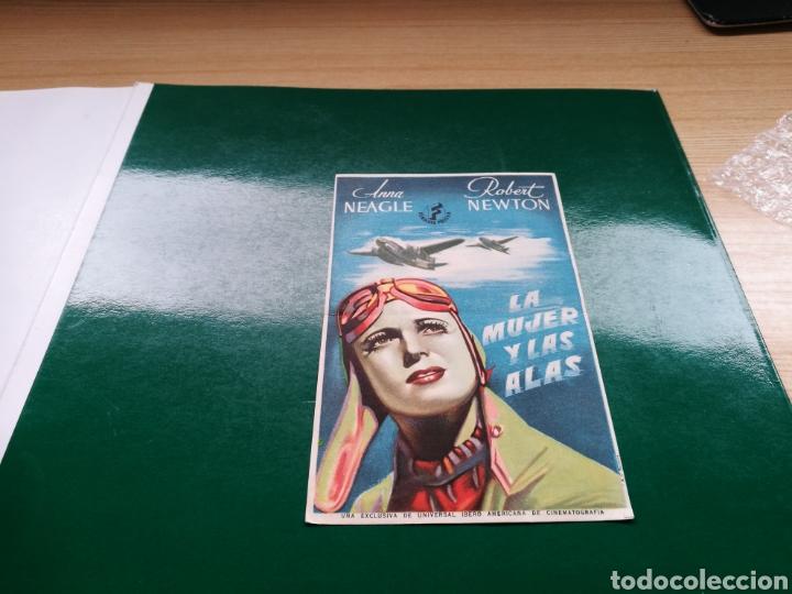 PROGRAMA DE CINE. LA MUJER Y LAS ALAS (Cine - Folletos de Mano - Bélicas)