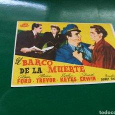 Cine: PROGRAMA DE CINE. EL BARCO DE LA MUERTE. Lote 170543970