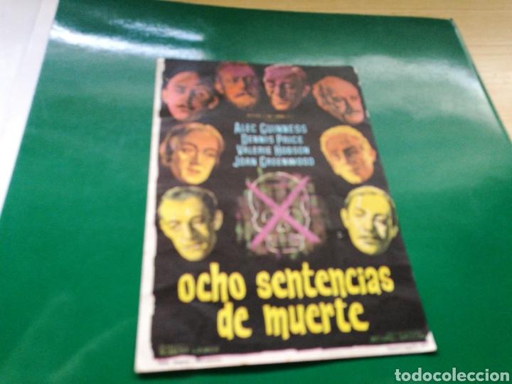 PROGRAMA DE CINE. OCHO SENTENCIAS DE MUERTE (Cine - Folletos de Mano - Suspense)