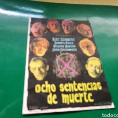 Cine: PROGRAMA DE CINE. OCHO SENTENCIAS DE MUERTE. Lote 170544501