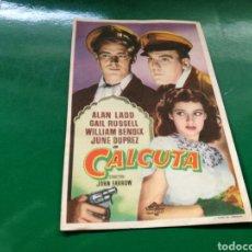Cine: PROGRAMA DE CINE. CALCUTA. CON PUBLICIDAD SELLO DEL CINE BOSQUE DE BARCELONA. Lote 170545465