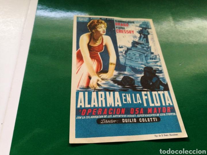 PROGRAMA DE CINE. ALARMA EN LA FLOTA (Cine - Folletos de Mano - Bélicas)