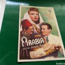 Cine: PROGRAMA DE CINE. ARABIA. Lote 170545786