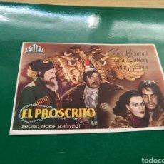 Cine: PROGRAMA DE CINE. EL PROSCRITO. Lote 170550200