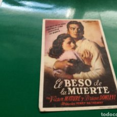 Cine: PROGRAMA DE CINE. EL BESO DE LA MUERTE. Lote 170550494