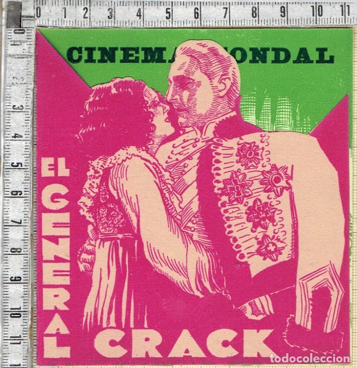 FOLLETO CINAES EL GENERAL CRACK JOHN BARRYMORE 1930 - CON PUBLICIDAD. (Cine - Folletos de Mano - Drama)