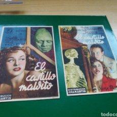 Cine: LOTE DE DOS PROGRAMAS DE CINE. EL CASTILLO MALDITO. Lote 170608494