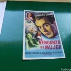 Cine: PROGRAMA DE CINE. VENGANZA DE MUJER. Lote 170611987