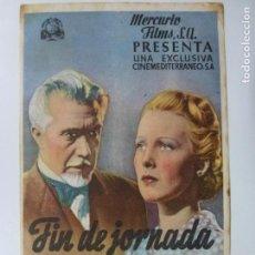 Cine: PROGRAMA DE CINE. FIN DE JORNADA. SIN PUBLICIDAD. . Lote 170613080