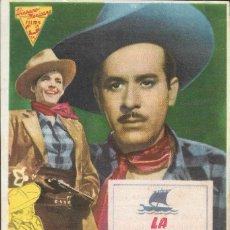 Cine: PROGRAMA DE CINE - LA BARCA DE ORO - PEDRO INFANTE, SOFIA ALVAREZ - MONUMENTAL CINEMA (MELILLA) 1947. Lote 170618240