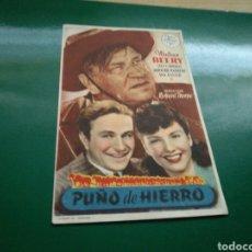 Cine: PROGRAMA DE CINE. PUÑOS DE HIERRO. Lote 170851814