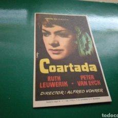 Cine: PROGRAMA DE CINE. COARTADA. Lote 170854679