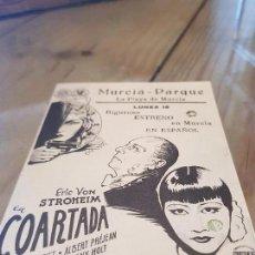 Cine: ANTIGUO PROGRAMA CINE COARTADA MINERVA FILMS MURCIA . Lote 170855210