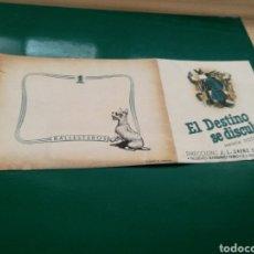 Flyers Publicitaires de films Anciens: PROGRAMA DE CINE DOBLE. EL DESTINO SE DISCULPA. Lote 184844925