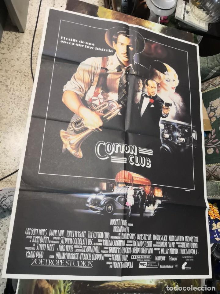 2 POSTER CARTEL DE CINE ORIFINALES. COTTON CLUB Y COTO DE CAZA (Cine - Folletos de Mano - Suspense)