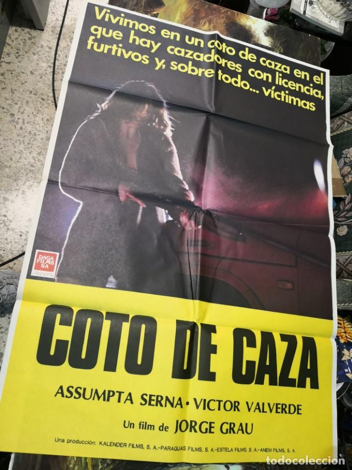 Cine: 2 poster cartel de cine orifinales. COTTON CLUB Y COTO DE CAZA - Foto 2 - 170911460
