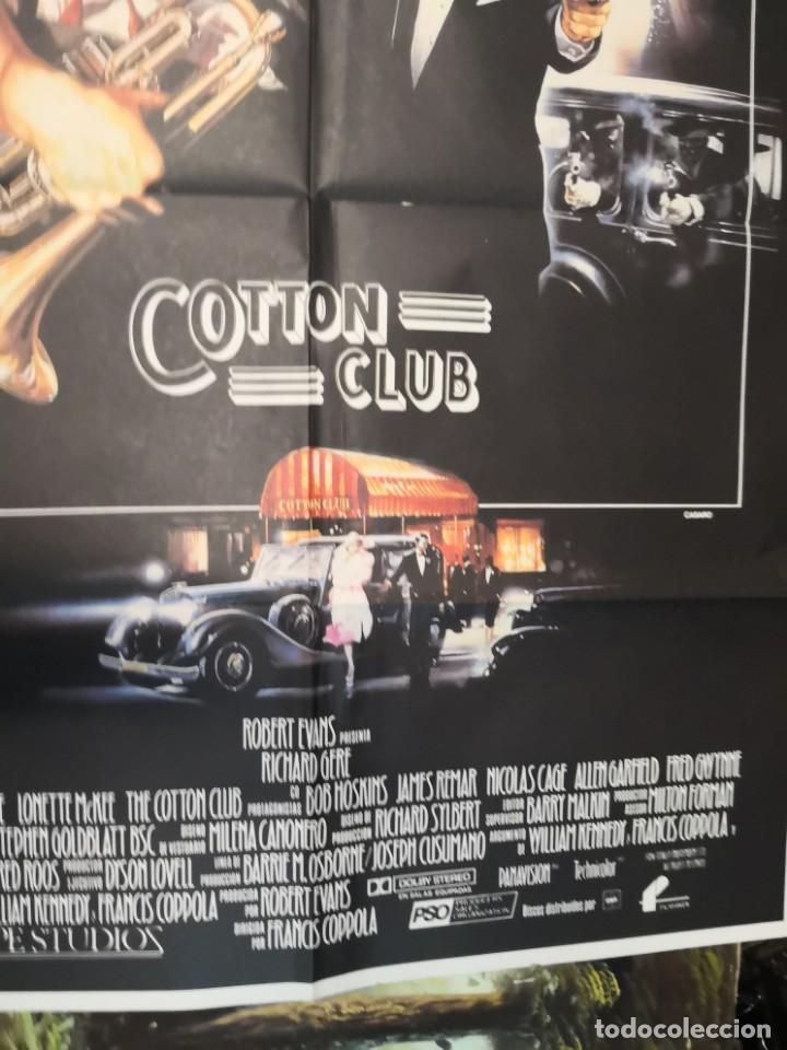 Cine: 2 poster cartel de cine orifinales. COTTON CLUB Y COTO DE CAZA - Foto 3 - 170911460