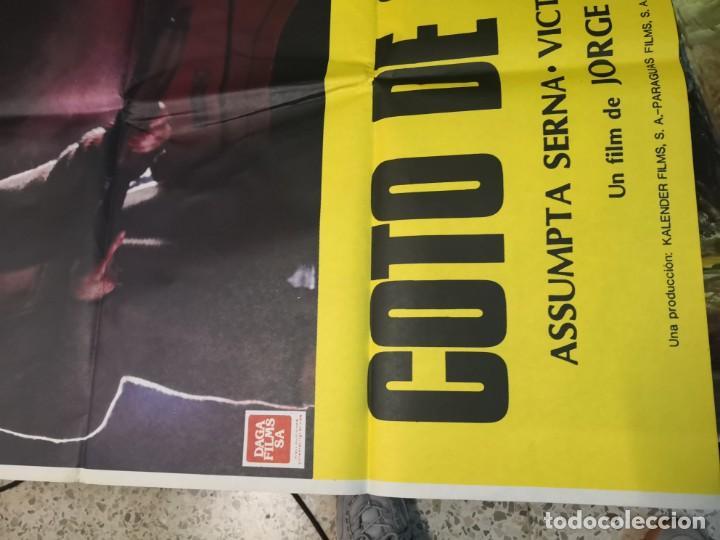 Cine: 2 poster cartel de cine orifinales. COTTON CLUB Y COTO DE CAZA - Foto 6 - 170911460