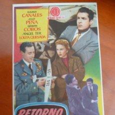 Cine: RETORNO A LA VERDAD FOLLETO DE MANO ORIGINAL ESTRENO PERFECTO ESTADO. Lote 170961567