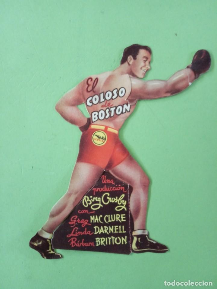 EL COLOSO DE BOSTON, CON BING CROSBY. PROGRAMA DE MANO TROQUELADO. (Cine - Folletos de Mano - Deportes)