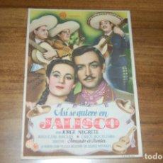 Cine: ASÍ SE QUIERE EN JALISCO. Lote 170985912