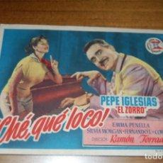 Cine: ¡CHÉ, QUÉ LOCO! CINEMA IDEAL (1953) ELDA. Lote 170986284