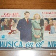 Cine: MUSICA EN EL AIRE. Lote 171044807