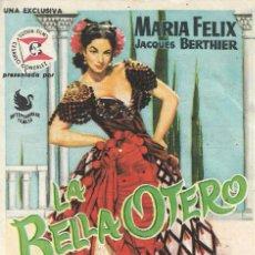 Cine: PROGRAMA DE CINE - LA BELLA OTERO - MARÍA FÉLIX - CINE CAPITOL, DUQUE Y PLUS ULTRA (MÁLAGA) - 1954.. Lote 171047634