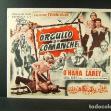 Cine: ORGULLO DE COMANCHE-GEORGE SHERMAN-MAUREEN O'HORA-MCDONALD CAREY-CINES BOHEMIO Y GALILEO-1951. . Lote 171048617