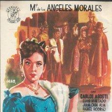 Cine: PROGRAMA DE CINE - LA CANCIÓN DE LA MALIBRAN - Mª DE LOS ÁNGELES MORALES - CINE ALKAZAR (MÁLAGA) . Lote 171050785