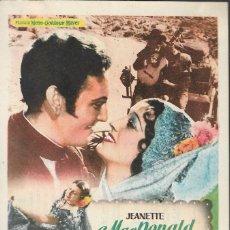 Cine: PROGRAMA DE CINE - LA ESPÍA DE CASTILLA - JEANETTE MAC DONALD - GRAN ALBÉNIZ (MÁLAGA) - 1937.. Lote 171091318