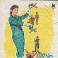 Cine: PROGRAMA DE CINE - LA ESPOSA DEL EMBAJADOR - CATERINA VALENTE - CINE ALBENIZ (MÁLAGA) - 1963.. Lote 171133087