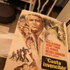 Cine: POSTER ORIGINAL DE LA PELÍCULA CASTA INVENCIBLE CON PAUL NEWMAN.. Lote 171134828