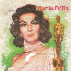 Cine: PROGRAMA DE CINE - LA ESTRELLA VACIA - MARÍA FÉLIX - CINE LOPE DE VEGA (MÁLAGA) - 1963.. Lote 171140772