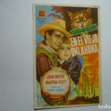 Cine: PROGRAMA EN EL VIEJO OKLAHOMA - JOHN WAYNE -PUBLICIDAD. Lote 171171057