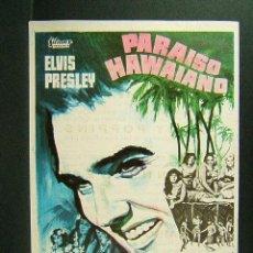 Cine: PARAISO HAWAIANO-MICHAEL MOORE-ELVIS PRESLEY-SUZANNA LEIGH-CINEMA VICTORIA-SAN FELIU DE GUIXOLS-1967. Lote 171187595