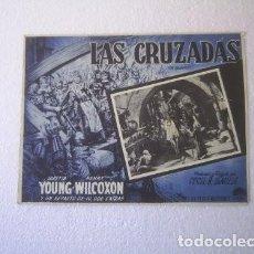 Cine: FOLLETO DE MANO DE LA PELÍCULA LAS CRUZADAS THE CRUSADES LORETTA YOUNG HENRY WILCOXON B DEMILLE 1935. Lote 171205647