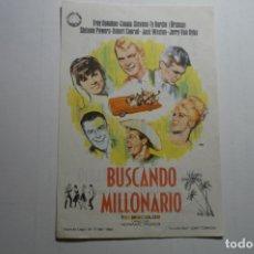 Cine: PROGRAMA BUSCANDO MILLONARIO .-TROY DONAHUE .-PUBLICIDAD TARRAGONA. Lote 171206097