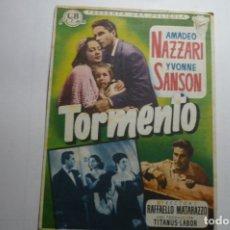 Cine: PROGRAMA TORMENTO - AMADEO NAZZARI-PUBLICIDAD . Lote 171206172